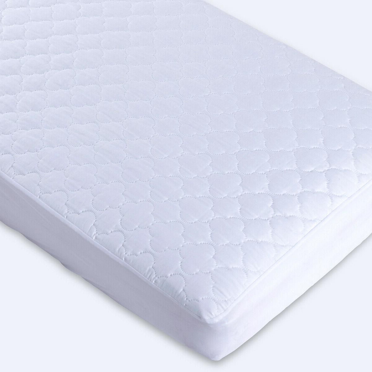 Puredown 2 Pack Waterproof Four Leaf Quilted Crib Mattress P