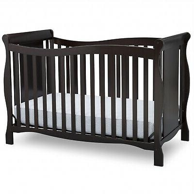 Convertible Baby Infant Crib 4-in-1 Toddler Newborn Children