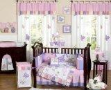 Pink and Purple Butterfly Flower Collection Baby Girl Beddin