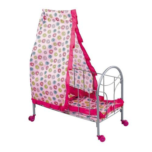 ABS Baby Crib Bed Cradle Stroller Playset for Reborn Doll Me