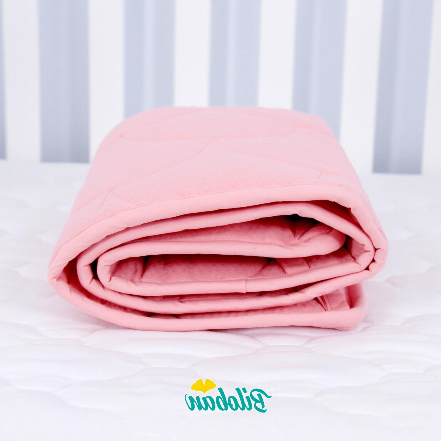 """Baby Breathable Crib Pad Protector Liners 52"""" x 28"""""""