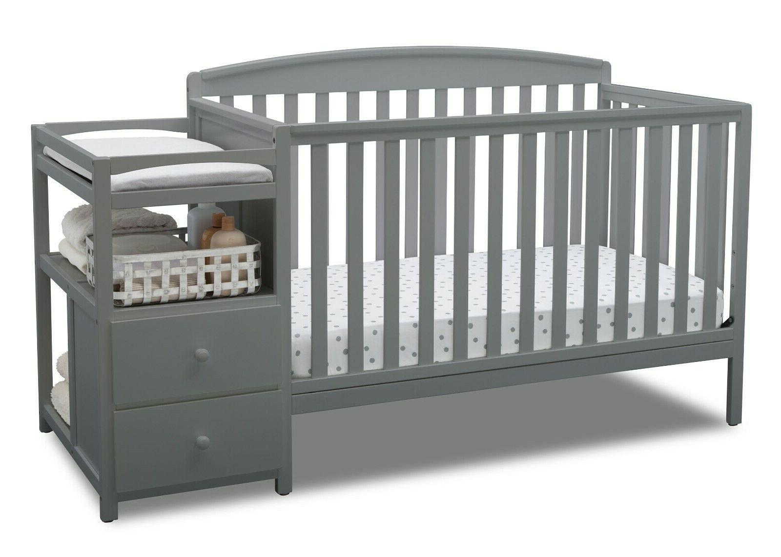 Baby Children Royal 4-in-1 Convertible Changer, GREY BED