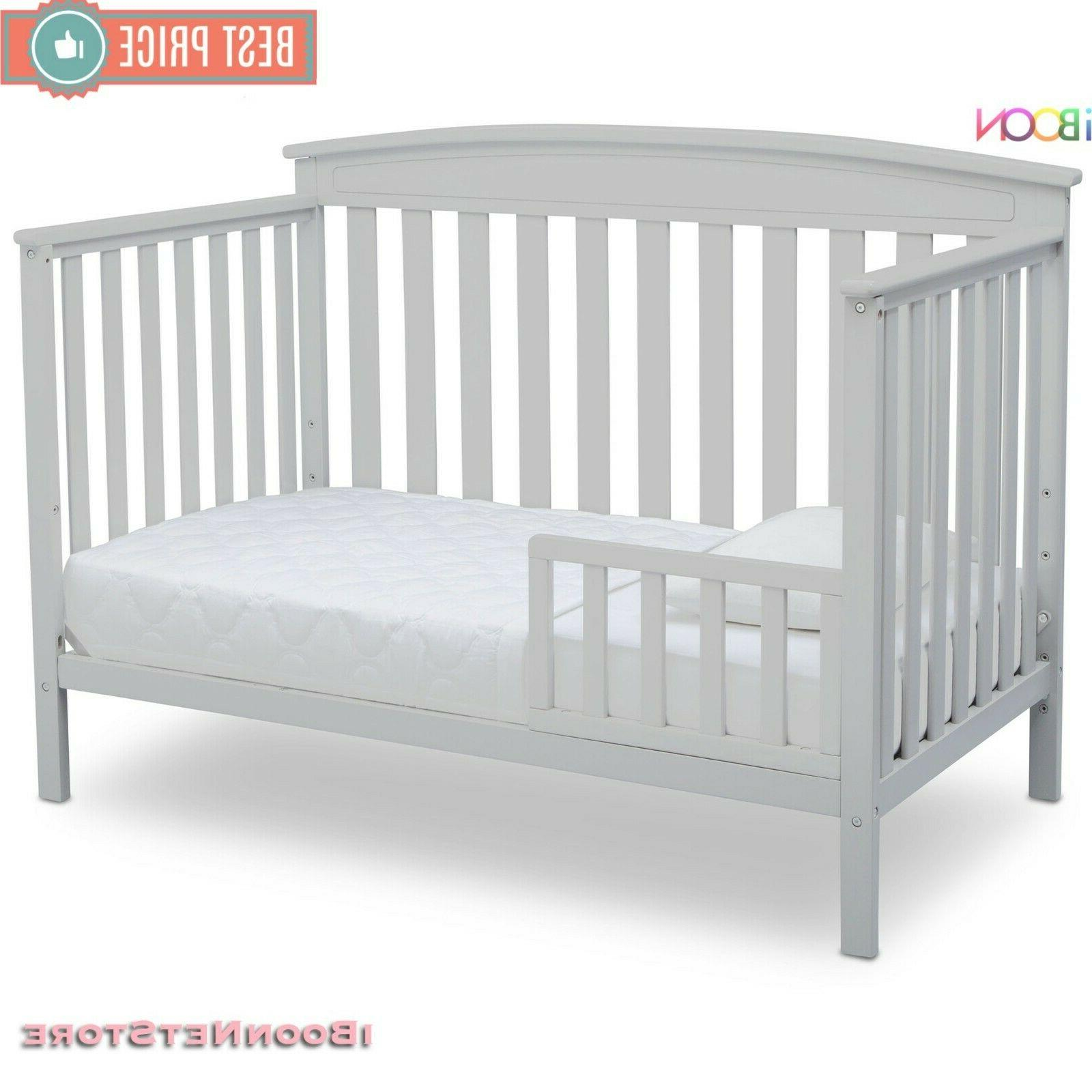 Baby Crib 4 1 Convertible Wood Convert Toddler Colors