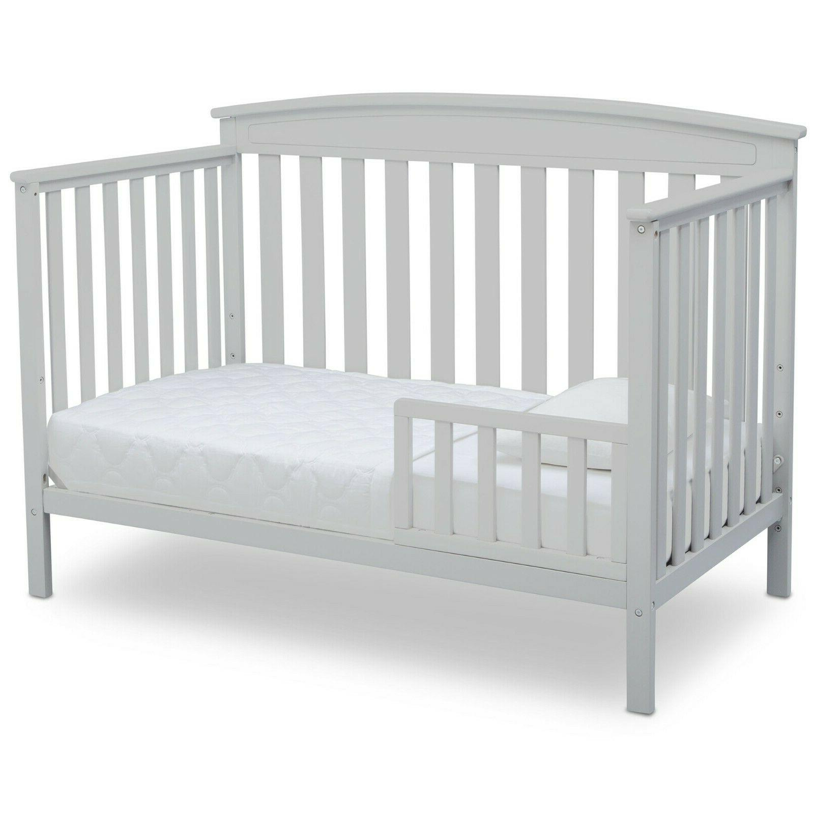 Baby Crib Full Toddler Bed Sturdy Wood
