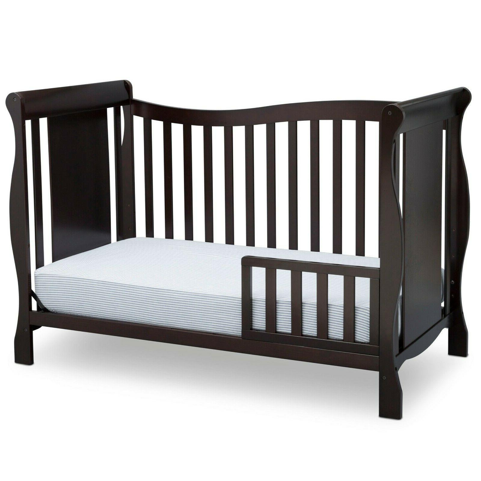Delta Brookside 4-in-1 Fixed-Side Convertible Crib, JPMA Certified