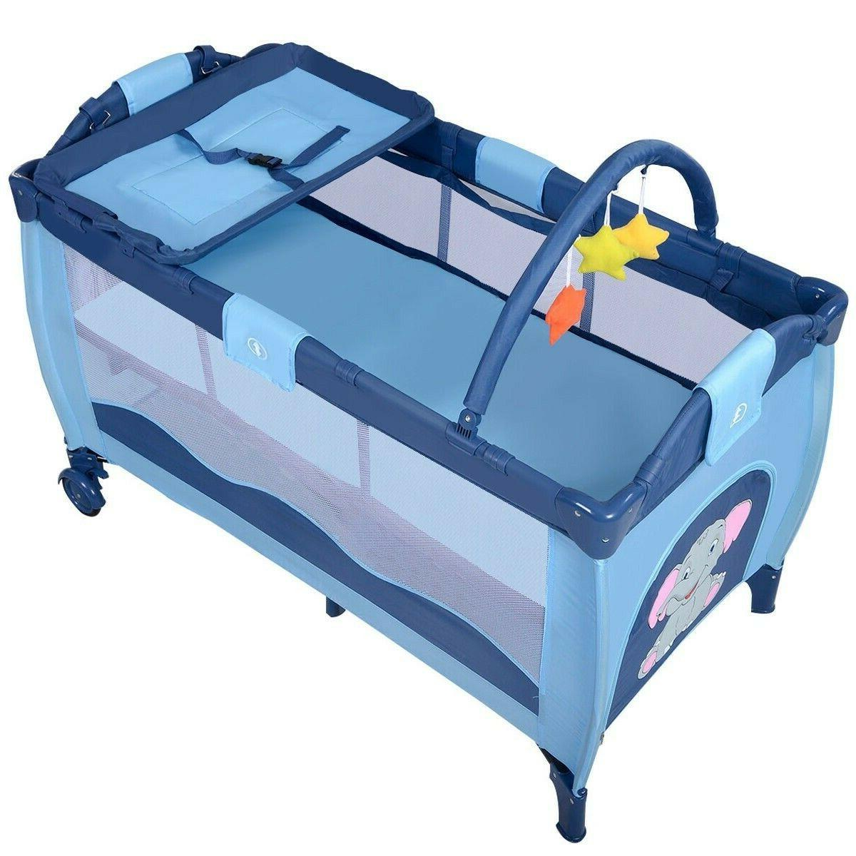coffee crib playpen playard bassinet