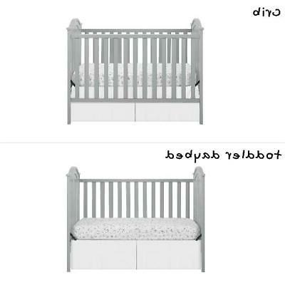 Convertible Baby Crib Daybed Nursery New Wood