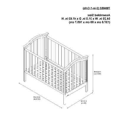Convertible Crib to Daybed Nursery Sleeping New Born Bed Modern Wood