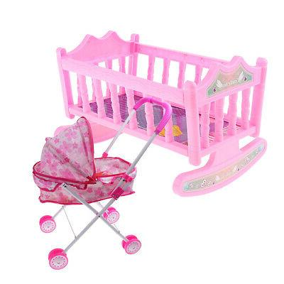 crib baby doll bed and stroller