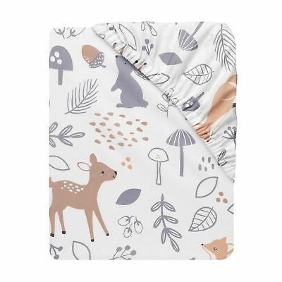 Bedtime 3-Piece Set - Gray, Animals, Woodland