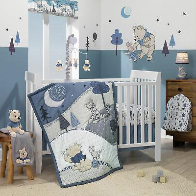 Disney Baby Forever Pooh 3-Piece Baby Crib Bedding Set  by