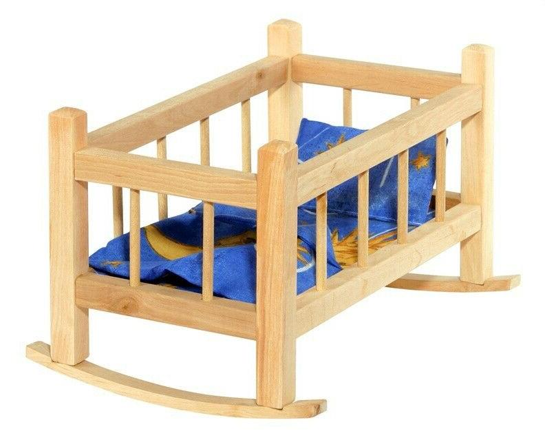doll bed vintage wood wooden baby crib