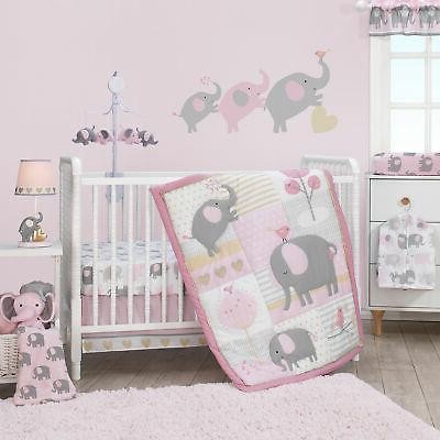 Bedtime Originals Eloise 3-Piece Crib Bedding Set, Pink