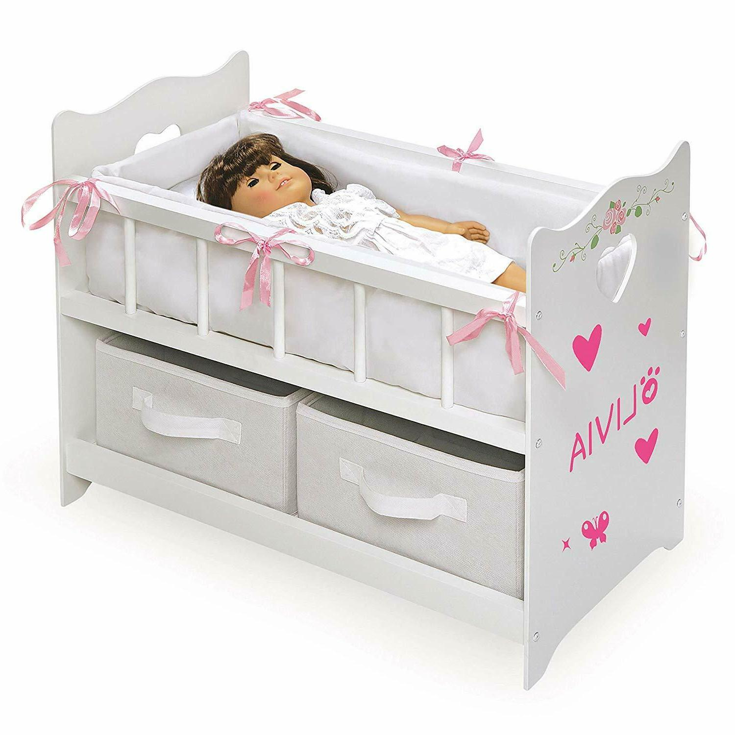 Furniture Baby Doll Crib Mobile Cabinet