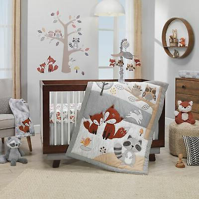 Lambs & Ivy the Gray/White Owl 4-Piece Perfect Fit Crib Bumper
