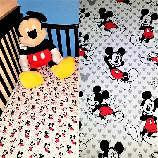 Mickey Mouse or Toddler Bed Sheet, Handmade