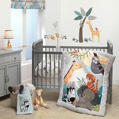 mighty jungle animals 3 piece baby nursery