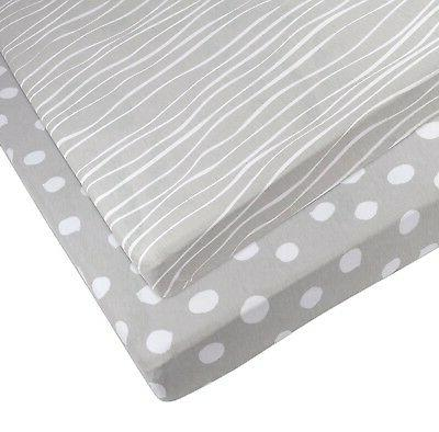 Pack n | Mini Crib and White Stripes and by Ely's &