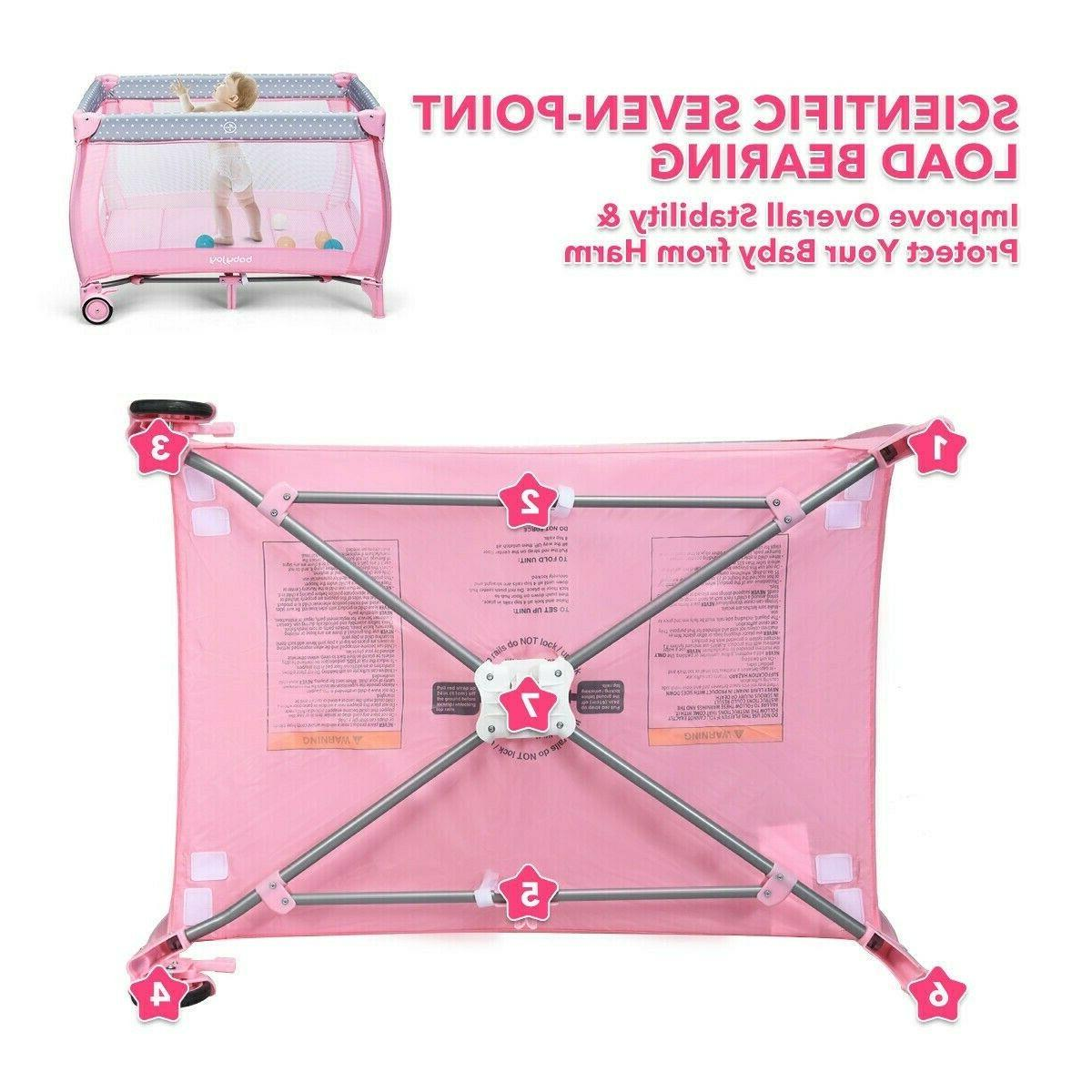 Pink Baby Portable Changing Center