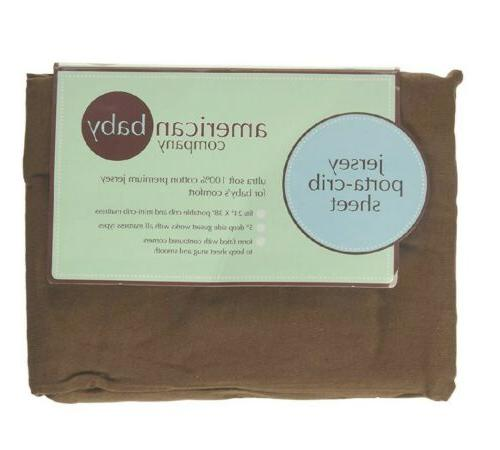 porta crib fitted jersey sheet chocolate brown