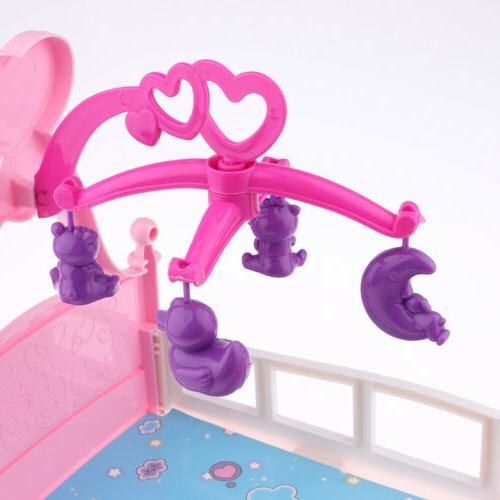 Simulation Baby Doll Cribs Rocking Cradle For