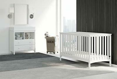 Hillcrest Fixed Crib, to Toddler Bed Da