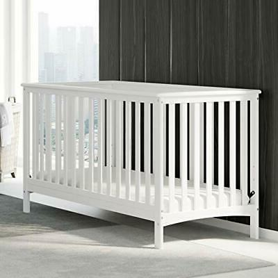Hillcrest Fixed Crib, Easily to Toddler Bed