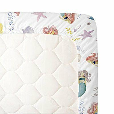 Carousel Designs Crib Sheet - 100% Cotton Fitted -