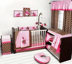 Bacati Ladybugs 10 Piece Crib Bedding Set with 2 Crib fitted