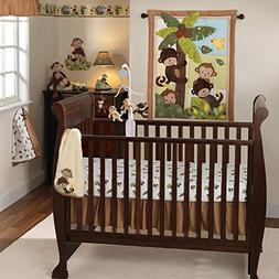 Lambs & Ivy Curly Tails 4-Piece Crib Bedding Set
