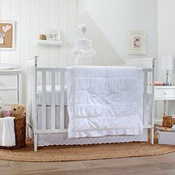 Carter's Lily 3 Piece Crib Bedding Set, White