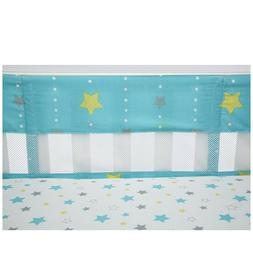 LITTLE BEDDING BY NOJO Twinkle Secure-Me Crib Liner - Turquo
