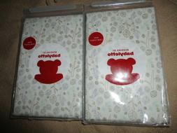 Lot of 2 NWT Bedding by Babyletto Fitted Crib Sheet Tranquil