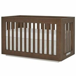 Evolur Maddox 3 in 1 Convertible Crib in Toffee and Brush Wh