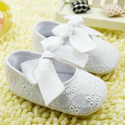 New baby girl's size 1, 2 or 3 white dress shoes for baptism