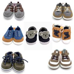 New Carter's Baby Boys Infants Crib Shoes Size Nb 0-3MO 3-6M