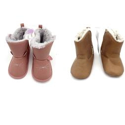 New Carter's Baby Girls Soft Crib Shoes Size 0-3 MO 3-6 MO 6
