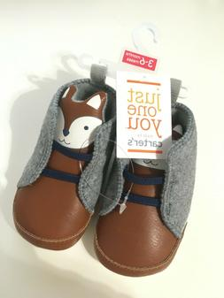 New Carter's Crib Shoes Fox Boys 3-6 Months Booties Sneakers