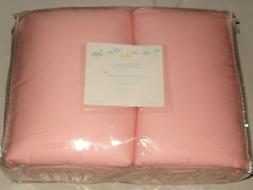 NEW TILLYOU DELUXE PINK 4-PIECE STANDARD CRIB 100% COTTON BU