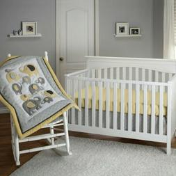 New Little Bedding by NoJo Elephant Time 3-Piece Crib Beddin