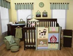 Trend Lab Baby Barnyard 7-Piece Nursery Crib Bedding Set