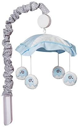 GEENNY OptimaBaby Blue Grey Elephant Musical Mobile