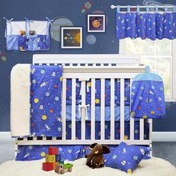 Brandream Outer Space Crib Bedding Sets for Boys Galaxy Nurs