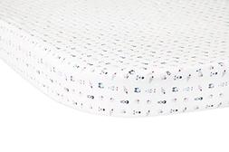 Babyletto Oval Fitted Crib Sheet, Galaxy