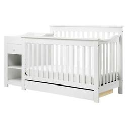 DaVinci Piedmont 4-in-1 Crib and Changer Combo, White
