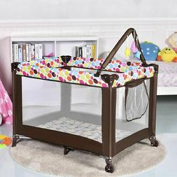 Playard Baby Crib Bassinet Travel Portable Bed Playpen Infan