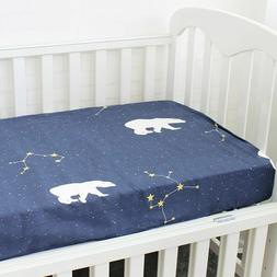 Pure Cotton Crib Cloud Fitted Sheet Newborn Baby Cot Infant