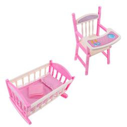 Reborn Doll Baby Toddler Furniture Playset - ABS High Chair