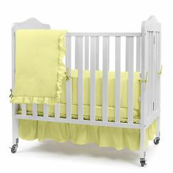 Solid Color Portable Crib Bedding
