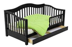 Toddler Daybed with Storage, Black
